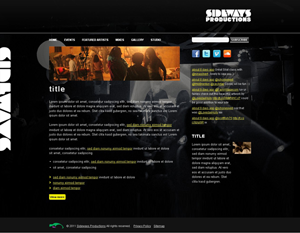 Sideway Productions example design